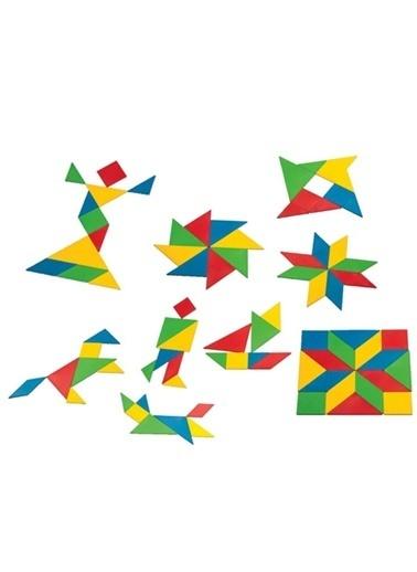 Dede Dede Tangram 56 Parça Eğitici Oyuncak Strateji Bulmaca Oyun Seti Renkli